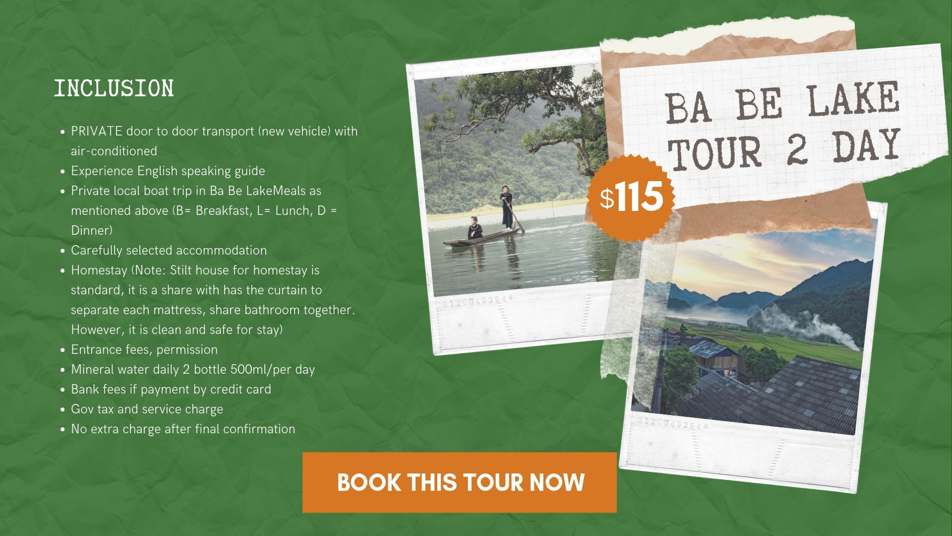 Ba Be Lake tour 2 day from Hanoi