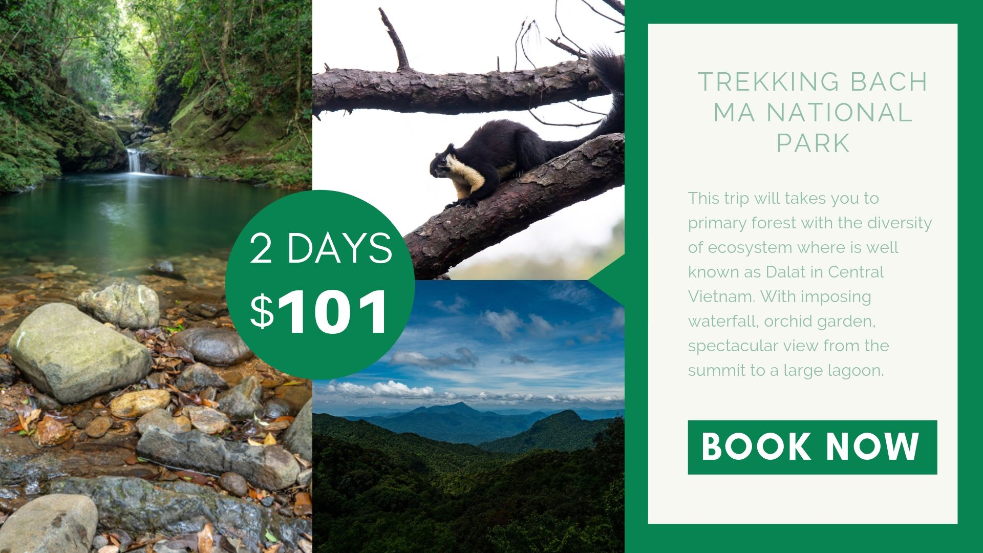 Tour Trekking Bach Ma National Park 02 Days