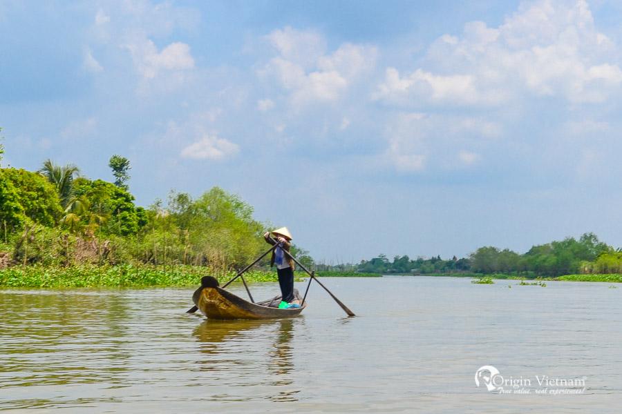 Boat in MeKong Delta