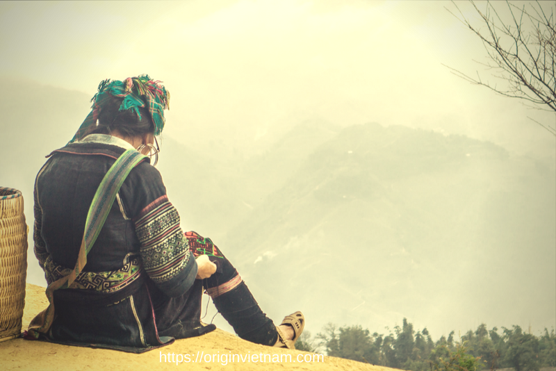 Black Hmong People in Sapa. one of the most interesting people in Vietnam for traveller