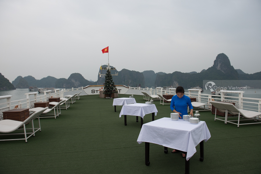 Wonderful sunset party in Halong