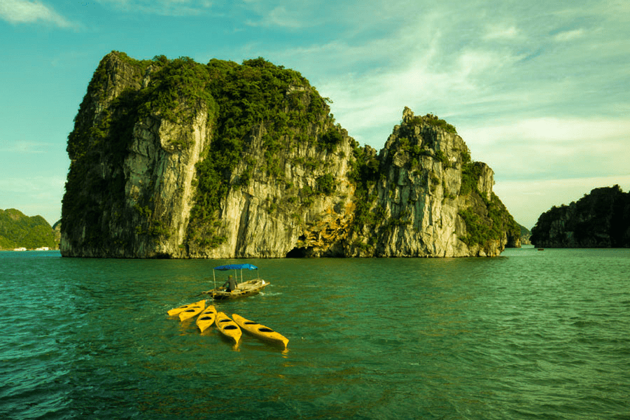 Kayak activity in Halong bay - How To Visit Halong Bay From Hanoi City