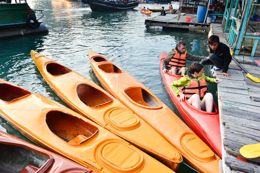 Kayaking Ha Long Bay summer
