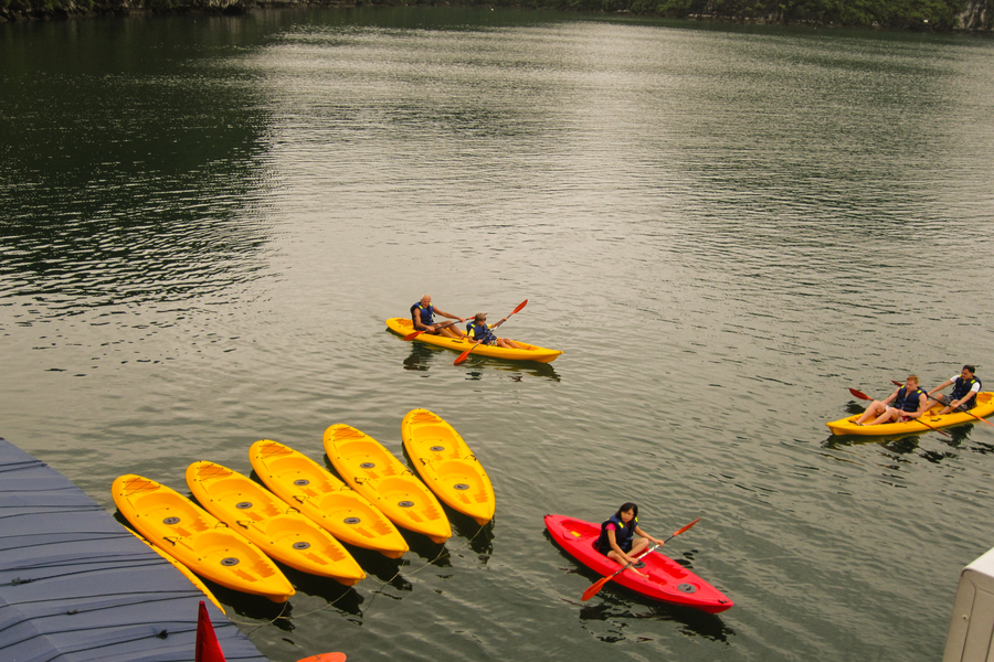 Kayak activity on Halong bay
