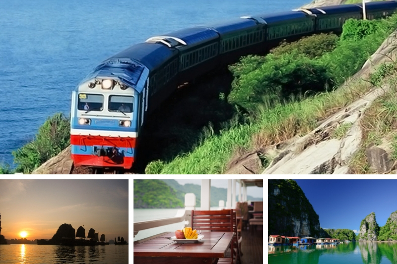 Travel Ha Long Bay by train