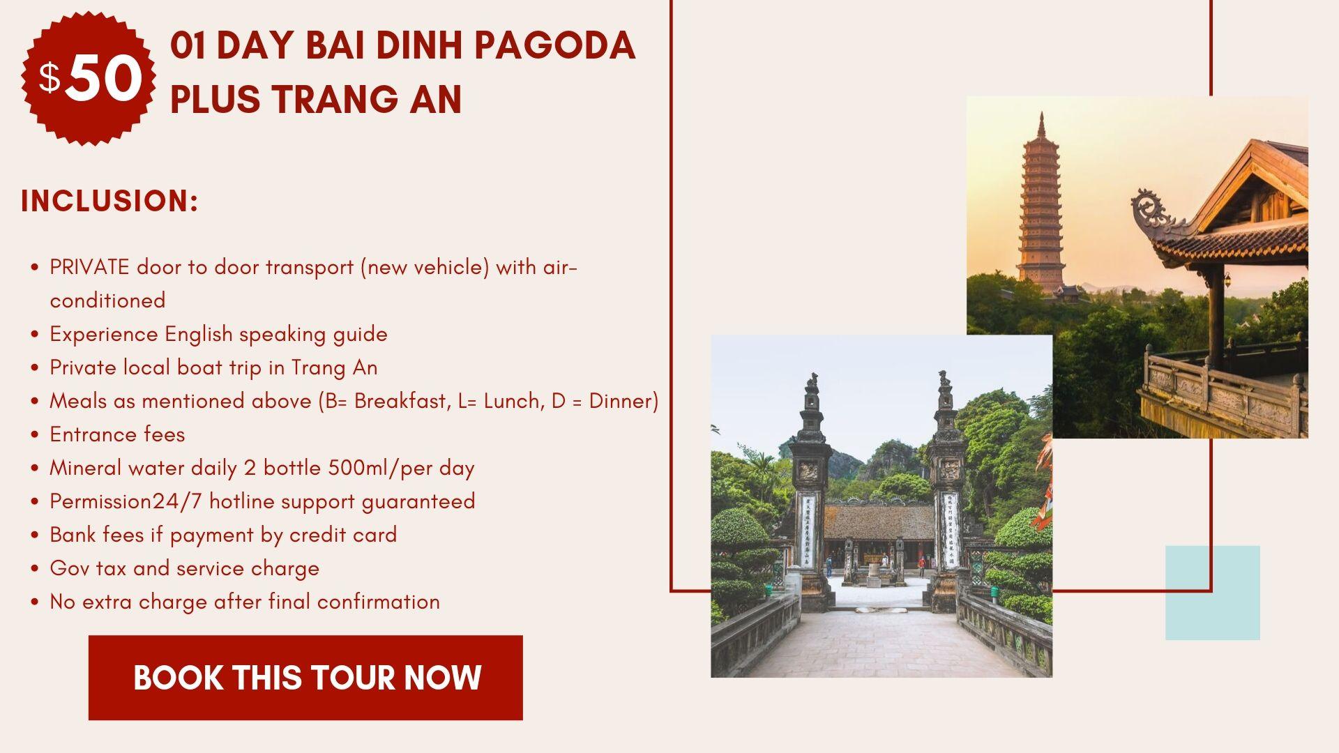 Tour Bai Dinh Pagoda Plus Trang An