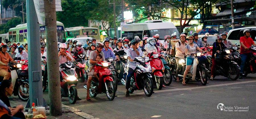 Traffic in Ho Chi Minh