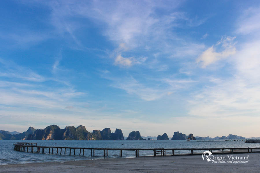 Bai Dai Beach or Long beach in Co To island Halong Bay