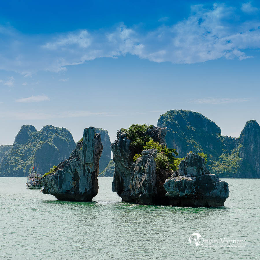 Kissing island in Halong Bay