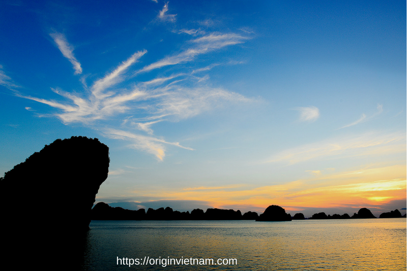 Sunset in Halong Bay Vietnam. It so amazing shoot