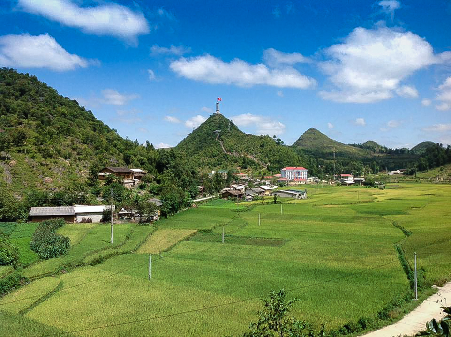 View of Lung Cu Flag Tower Ha Giang