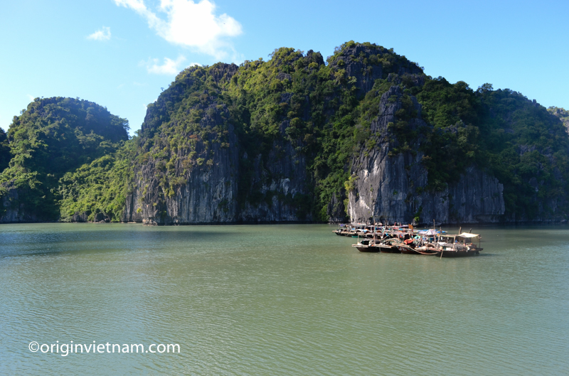 Time for rest at Fishing families on Lan Ha Bay