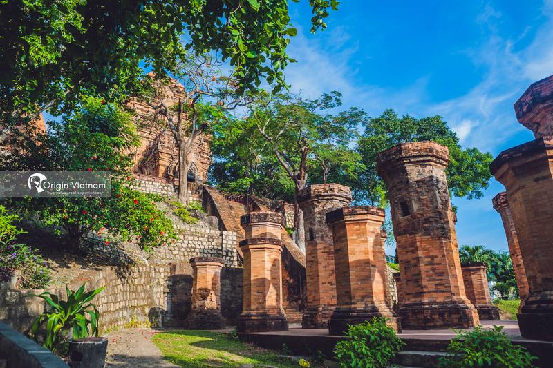 The old brick Cham tower Nha Trang
