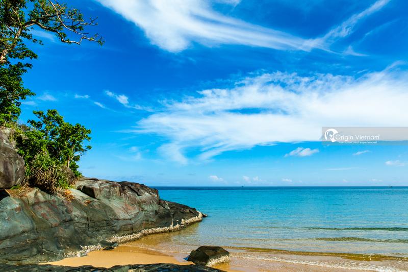 Dam Trau beach on Con Dao island