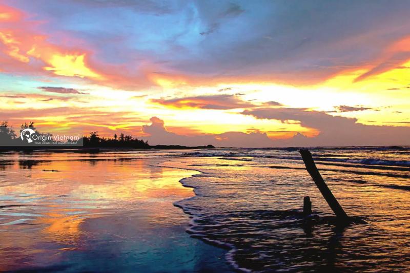 The sunrise at Ho Tram beach