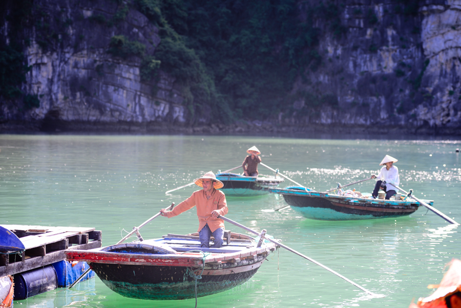 The fishermen in Vung Vieng floating village