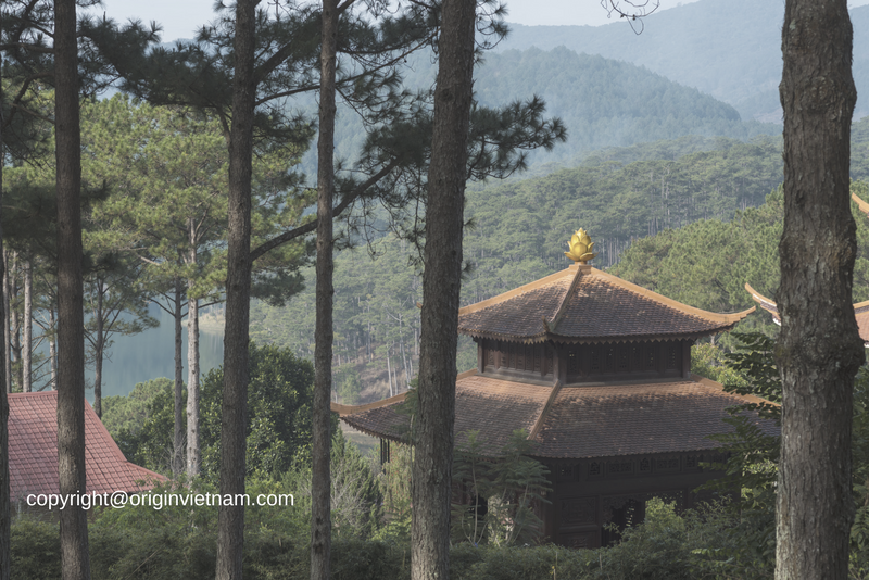 Truc Lam Pagoda is a Zen Buddhist religious community six kilometers south of Da Lat downtown area.