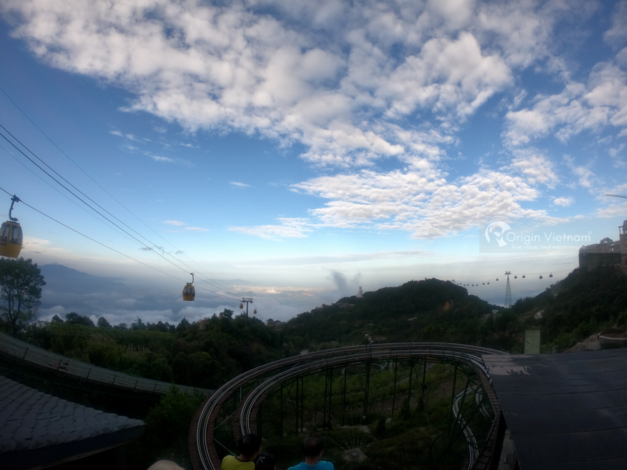 Beautiful scene view while playing Alpine Coaster at Mercure Danang