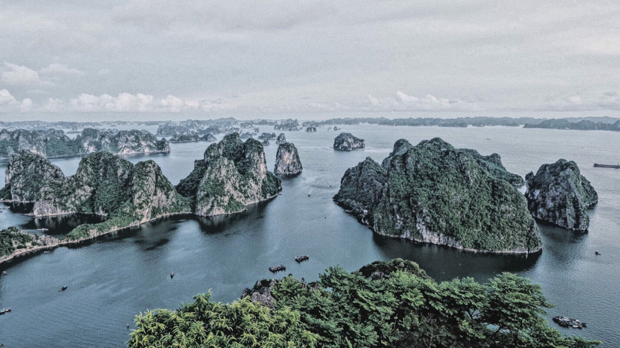 Over looking Halong Bay from Bai Tho