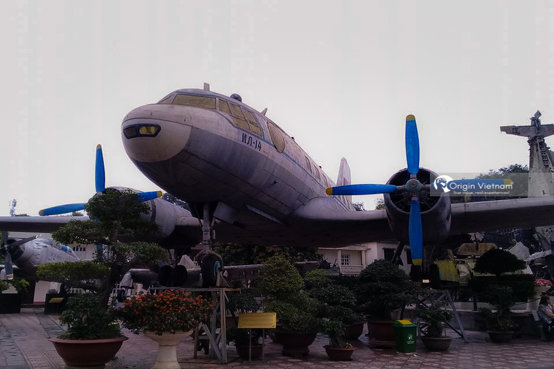 The old plane on Hanoi Flag Tower