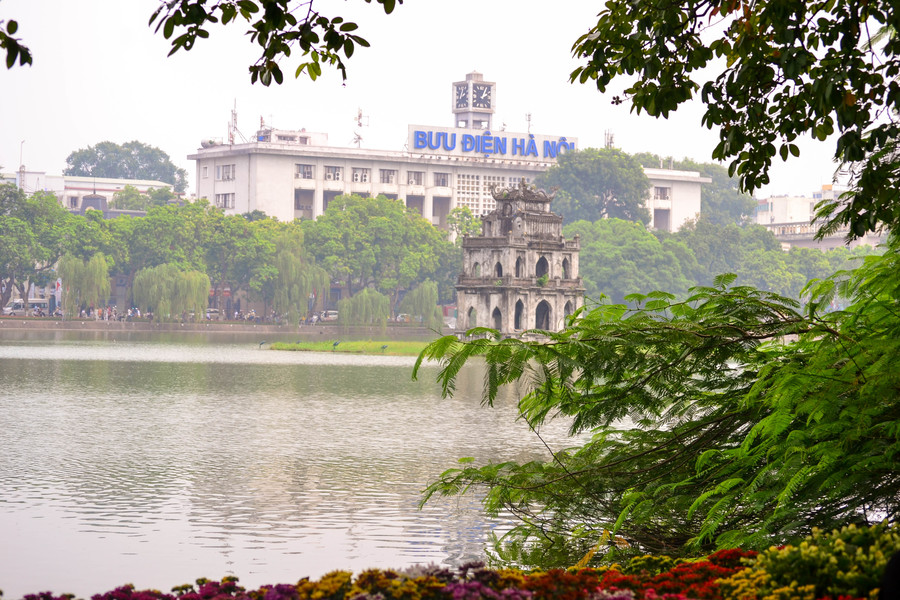 Turtle Tower Hoan Kiem Lake