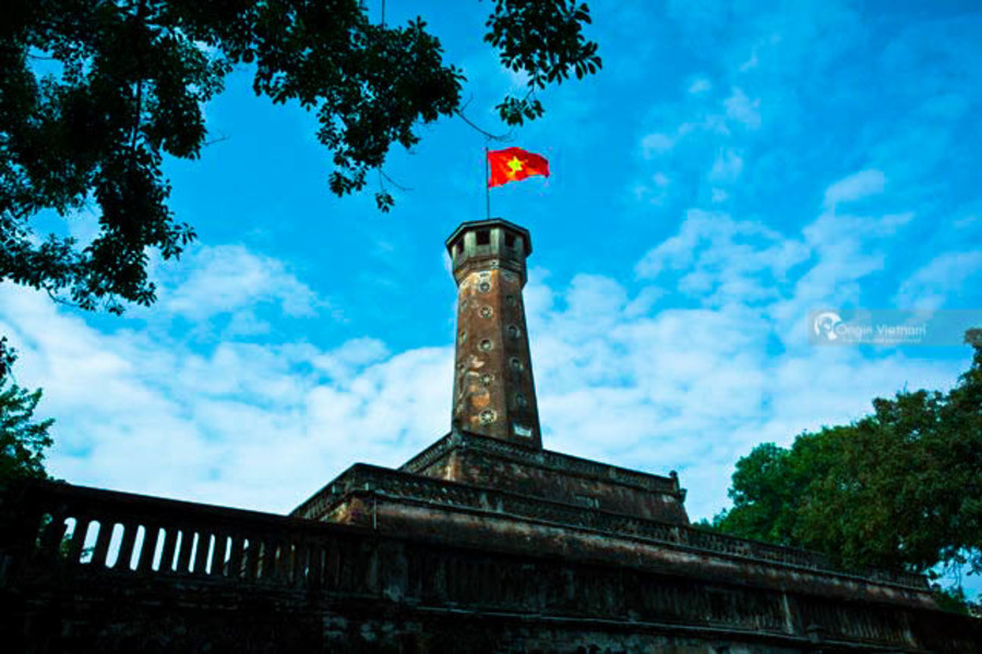 Flagstaff in Imperial Citadel of Thang Long