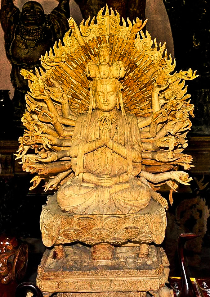 Buddha statue at Kim Bong Carpentry Village