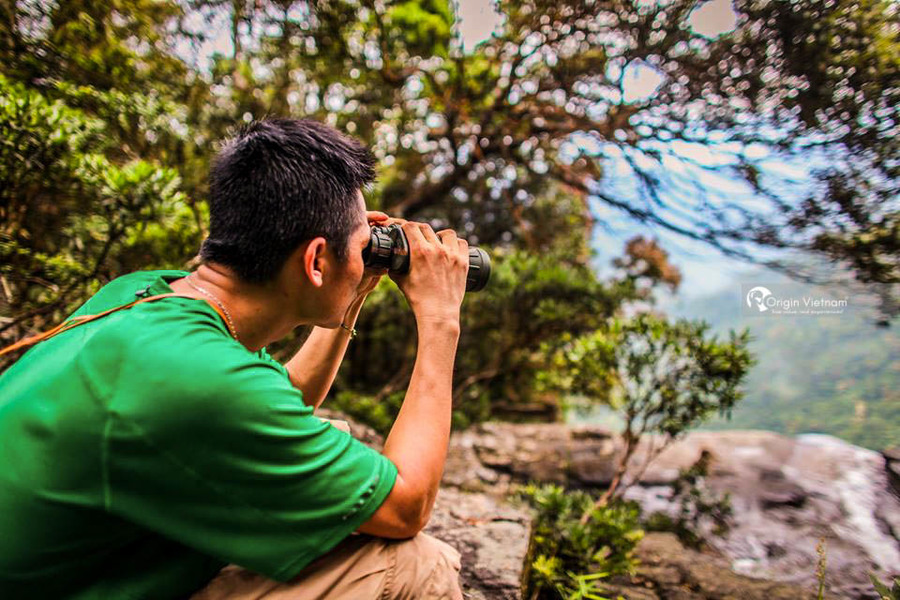 Visitor observe beautiful scenery of Bach Ma National Park