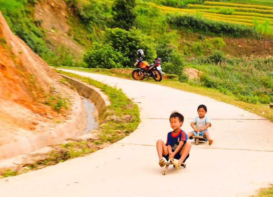 Kid's game in La Pan Tan village