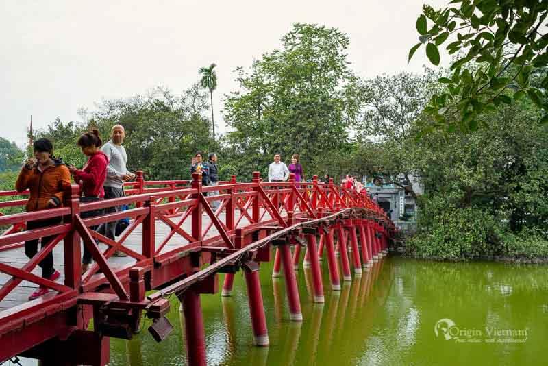 Ngoc son temple and Hoan Kiem Lake