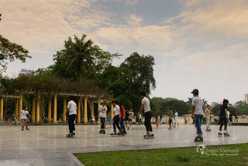 Patin in Thong Nhat Park Hanoi