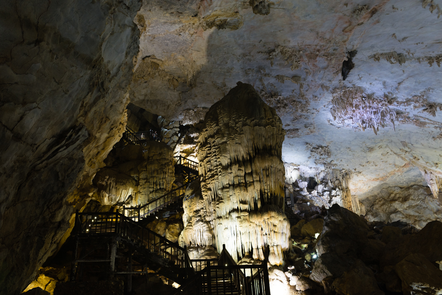 View inside paradise cave