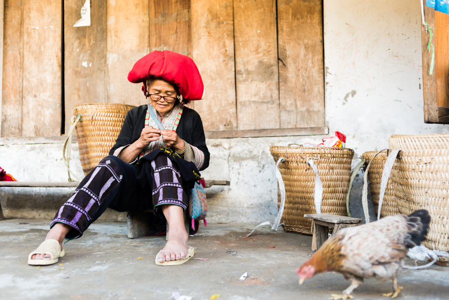 Red zao woman in Ta Phin Village - Sapa Vietnam