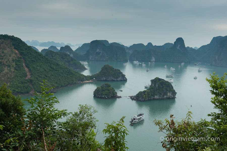 view from ti tiop island Halong Bay Vietnam